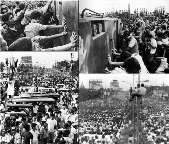 Scenes of the EDSA I Revolution, 22-25 February 1986.