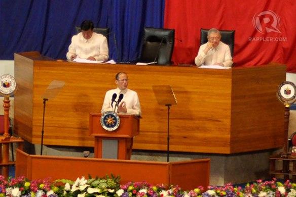 President Benigno Aquino III addresses before the Congress, 22 July 2013.